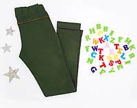 Теплые трикотажные подростковые брюки Deloras, размер 134-164, оливковый