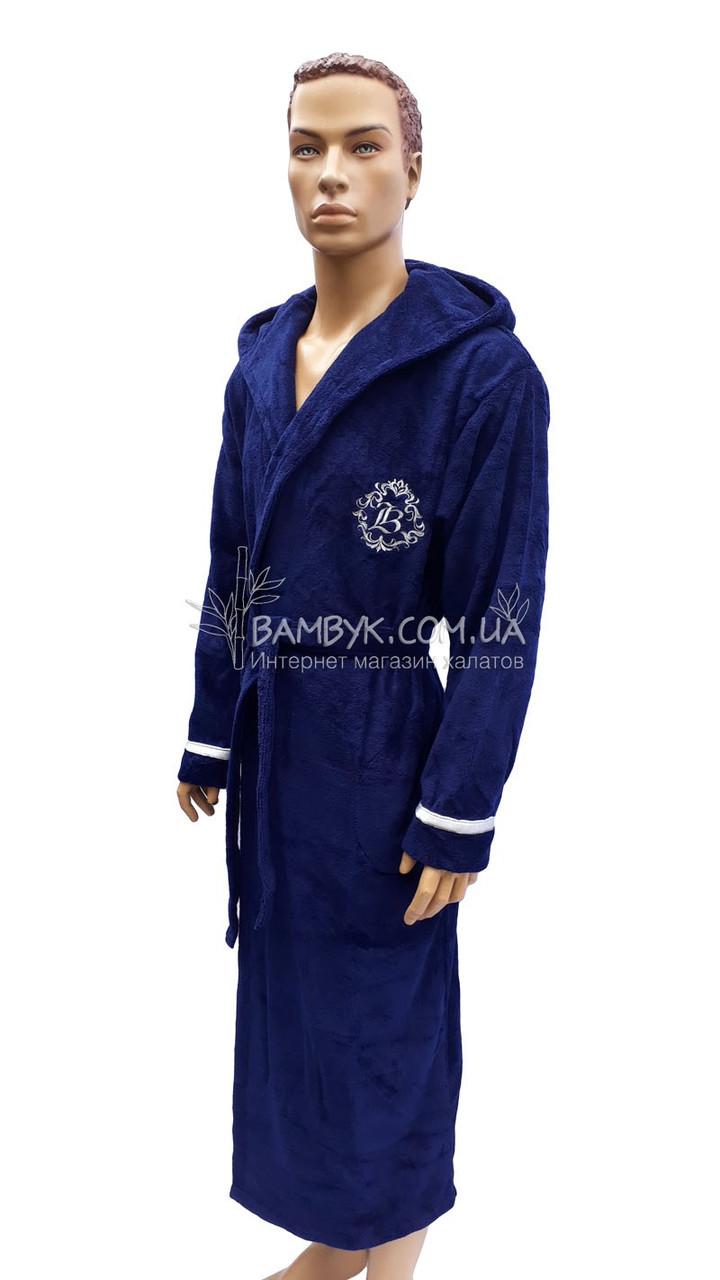 4b5a76b4028fd Мужской халат Bellezza By Ebru бамбуковый синего цвета №2016, цена 1 026  грн., купить в Одессе — Prom.ua (ID#773815009)