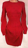 Платье с бусинками женское (шерсть/ акрил), фото 1
