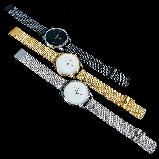 """Часы наручные """"Черный Минимализм""""  цвет золото, фото 2"""