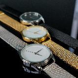 """Часы наручные """"Черный Минимализм""""  цвет золото, фото 5"""