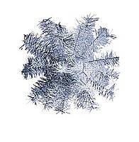 Шар-снежинка средний (мишура) d-40