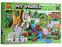 """Конструктор Bela 10468 """"Железный голем"""" Майнкрафт, 220 детали. Аналог Lego Minecraft 21123, фото 1"""