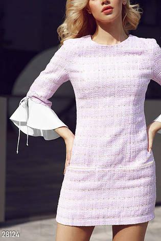 Оригінальне  плаття з м'якого букле з ниткою люрексу  розмір 44 46 48, фото 2