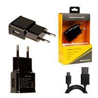 Зарядное устройство USB 220В Grand-X 5V 2.1A (CH-03UMB)