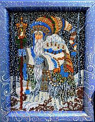 НЮ-078 Рождественский чародей. ТМ Миледи. Набор для вышивки бисером и каменьями