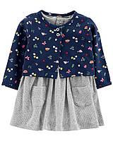 Комлект боди-платье и кардиган Carter's для девочки