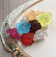 Бусина цветок пластик цвет микс 25 мм