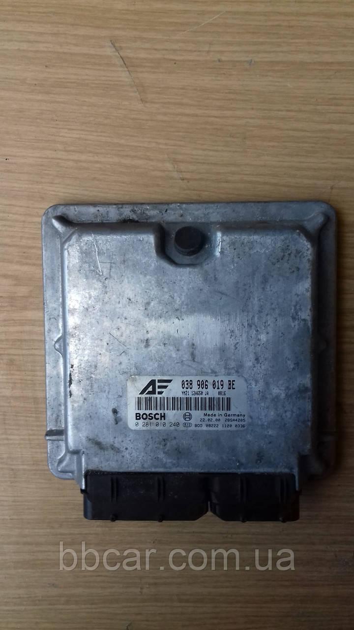 Блок управління двигуном Volkswagen Sharan 1.9 tdi Bosch 038 906 019 BE , 0 281 010 240
