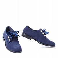 Темно синие закрытые туфли