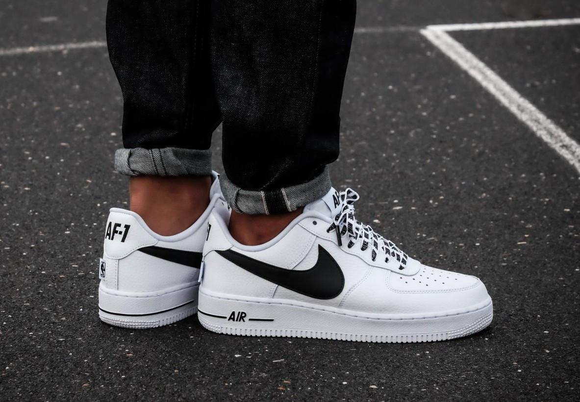 e6f7ee2e3e99 Кроссовки мужские Nike Air Force 1 Low NBA Pack White 823511-103 (в стиле