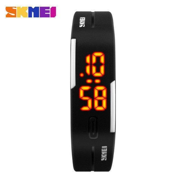Skmei 1099 binar черные мужские спортивные часы