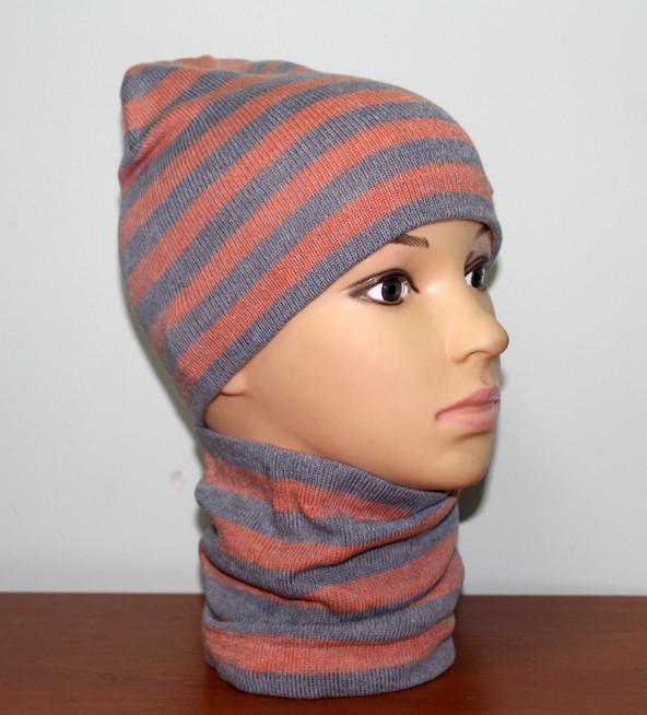 Набор для детей шапка с хомутом