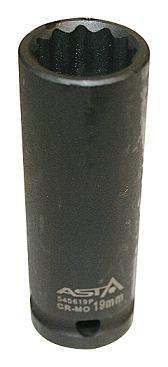 Головка ударная 12-гр. длинная 1/2 19мм ASTA 545619P
