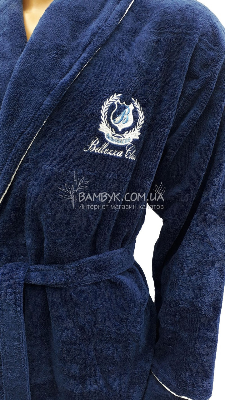 63093f6ebd235 ... Мужской халат Bellezza By Ebru бамбуковый синего цвета №2023, ...