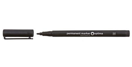 Маркер перманентний Optima, чорний 1mm