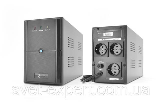 ИБП Ritar E-RTM1000 (600W) ELF-L, LED, AVR, 3st, 3xSCHUKO socket, 2x12V7Ah, metal Case Q2 (405*195*285) 10 кг, фото 2
