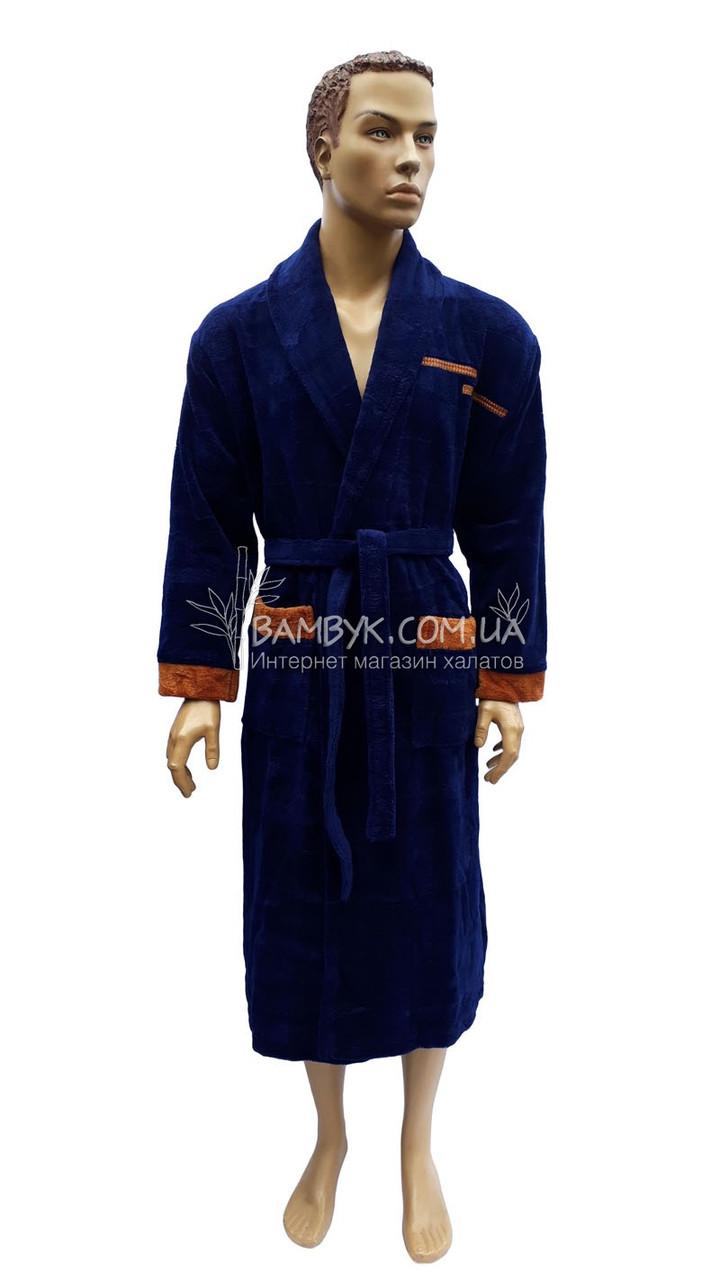 deb1840fd323a Мужской халат Bellezza By Ebru бамбуковый синего цвета №2026, цена 1 026  грн., купить в Одессе — Prom.ua (ID#773834633)