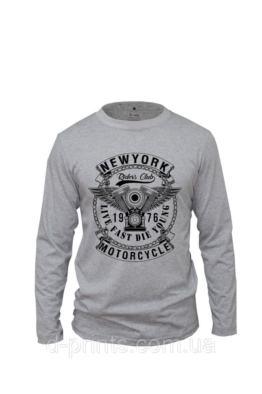 "Лонгслив с рисунком ""New York"" FB-001-G"