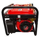 Генератор бензиновый макс мощн. 2,4 кВт., ном. 2,2 кВт., 5,5 л.с., 4-х тактный, ручной пуск 40,7 кг. INTERTOOL DT-1122, фото 3