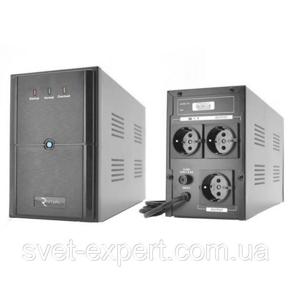 ИБП Ritar E-RTM1500 (900W) ELF-L, LED, AVR, 3st, 3xSCHUKO socket, 2x12V9Ah, metal Case Q2 11,5 кг