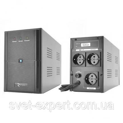 ИБП Ritar E-RTM1500 (900W) ELF-L, LED, AVR, 3st, 3xSCHUKO socket, 2x12V9Ah, metal Case Q2 11,5 кг, фото 2