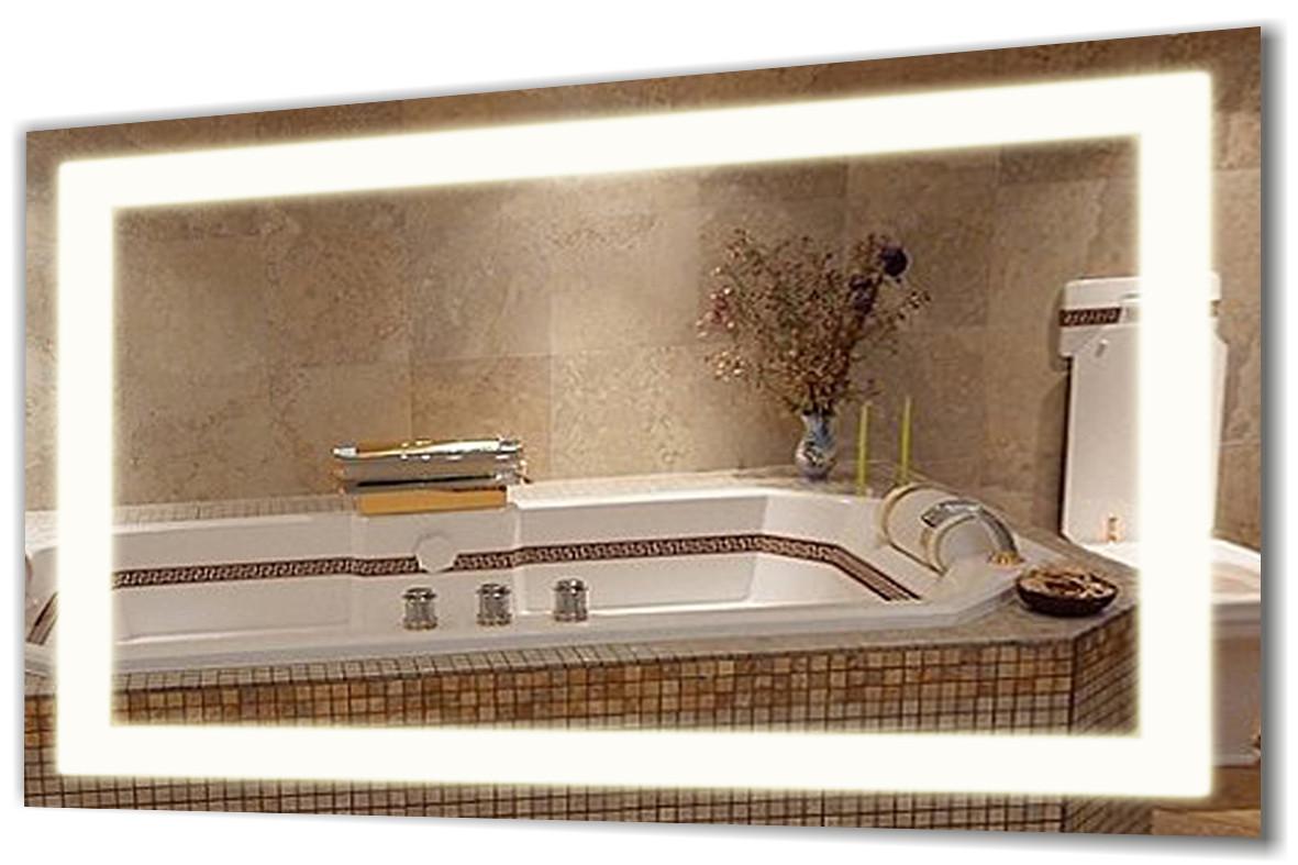 Зеркало с подсветкой Led, настенное зеркало 50х80 Сomfort Led-03 , зеркало в ванную комнату