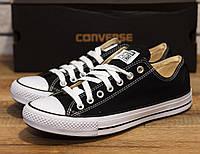 Кеды женские корверс черно-белые летние (реплика) Converse Black White 53340b89b3bbb