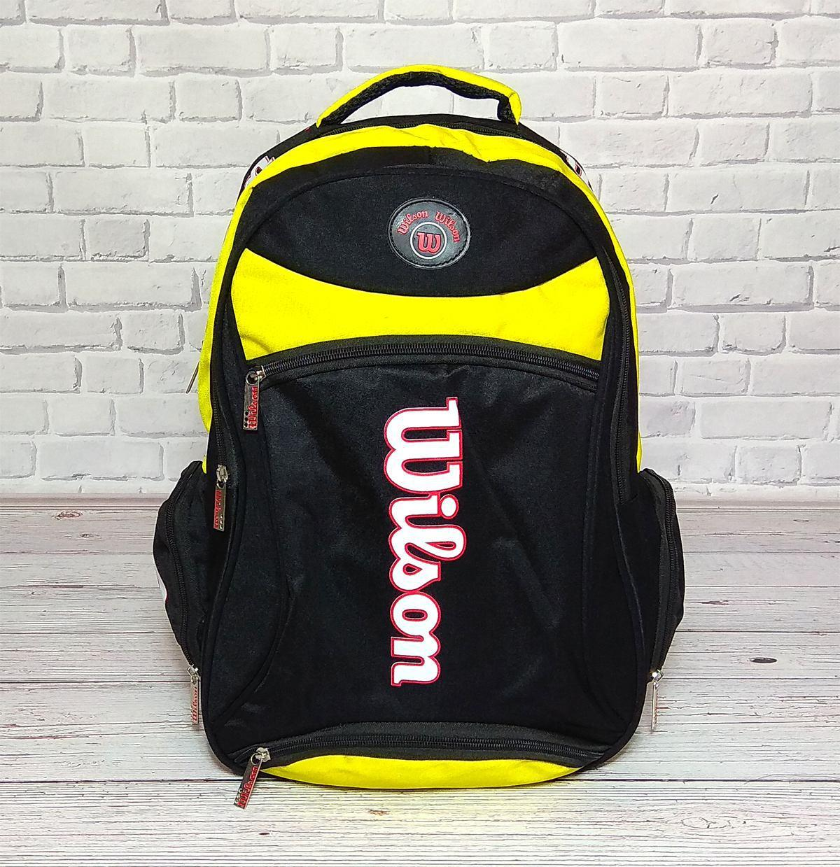 f409168ecfab Вместительный рюкзак Wilson для школы, спорта. Черный с желтым. - ⭐STAR⭐