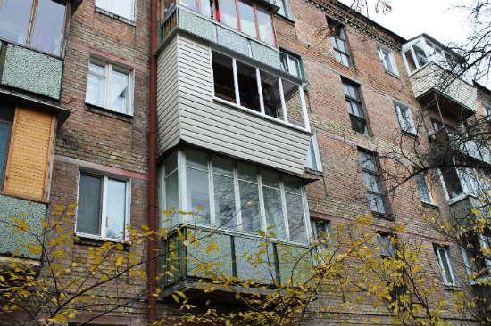 Балкон в серии дома хрущевка