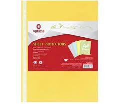 Файл А4 Optima, 40 мкм, глянец (100 шт / уп) желтый O35116-05