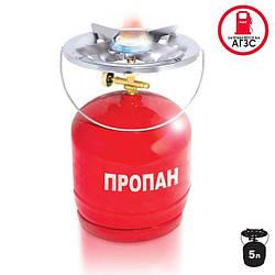 Комплект газовый кемпинговый 5 л. INTERTOOL GS-0005