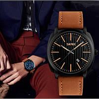 Skmei 9169 kowboy коричневые мужские классические  часы