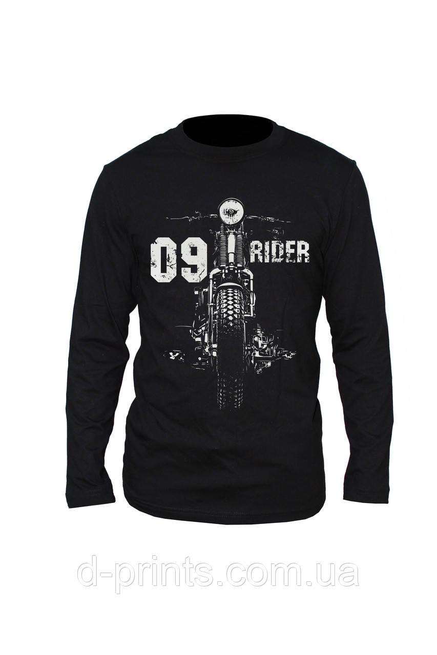 "Лонгслив с рисунком ""Rider"" M-09-B"