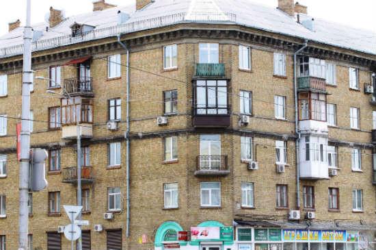 Балкон в серии дома сталинка