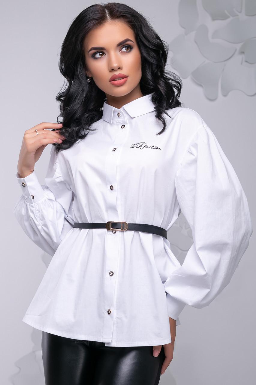 4a1b040c3f1 Богатая Блуза с Пышными Рукавами Белая S-XL - купить по лучшей цене ...