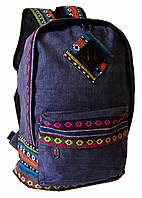 Городской рюкзак. Модный рюкзак-портфель из холста.Современный рюкзак. Рюкзак унисекс.Код: КРСС007