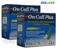 Тест-полоски Он-Колл Плюс (OnCall@Plus) 2 упаковки - 100 штук