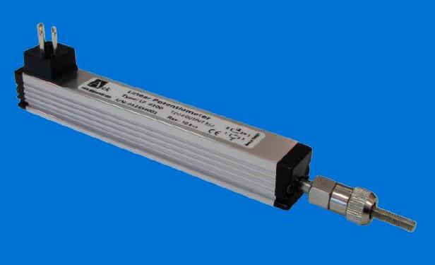 Потенциометрический датчик линейных перемещений серии LF, односторонний ход штока, компактный размер