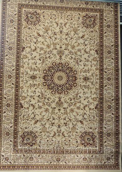 Прямоугольный ковер Oriental 4672 бежевый, плотный классический
