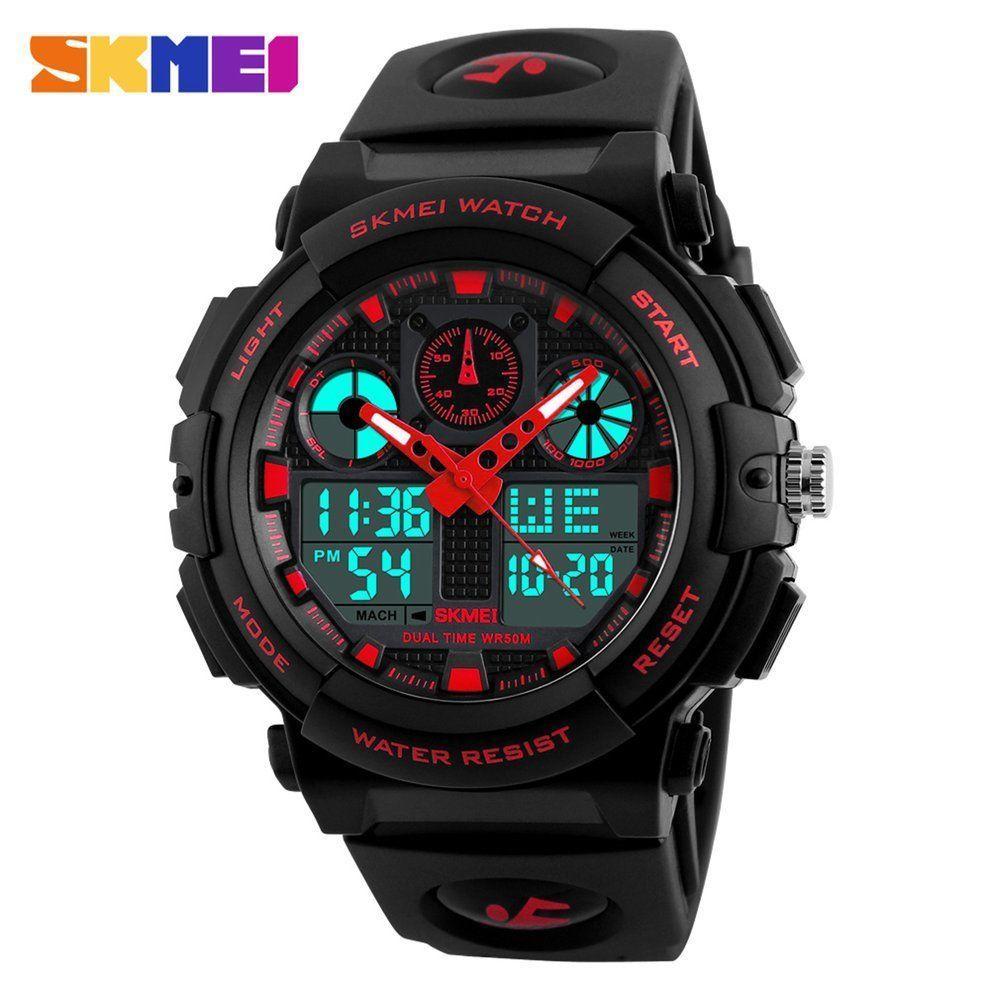 Мужские спортивные часы SKMEI 1270 50 М, цифровые наручные часы с хронографом