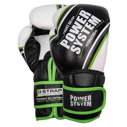 Перчатки для бокса PowerSystem PS 5006 Contender Black/Green Line, фото 2