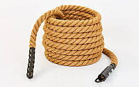 Канат спортивный из сизаля для лазанья с креплением (l-9 м, d-3,8 см)
