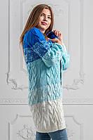 Кардиган женский вязанный косички в расцветках  34465, фото 1