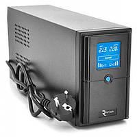 ИБП Ritar E-RTM500 (300W) ELF-D, LCD, AVR, 2st, 2xSCHUKO socket, 1x12V7Ah, metal Case Q4 (370*130*210) 4.8 кг
