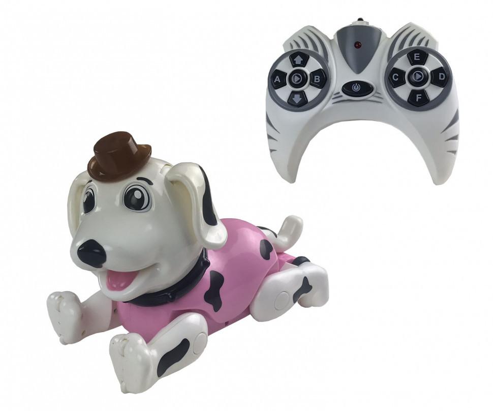 Игрушка на радиоуправлении Робот Собака 888-1F (Розовый)