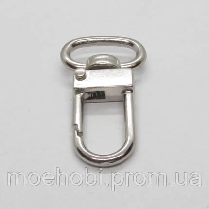 Карабин для сумки (13мм) никель,  4039, фото 2