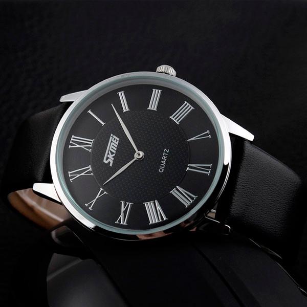 Skmei 9092 rome черные классические часы мужские