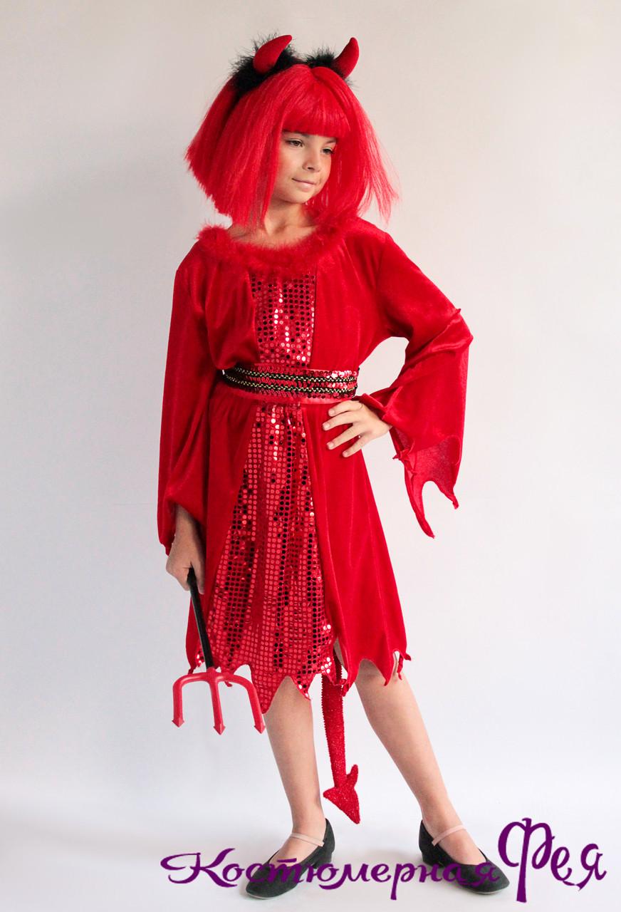 Чертовка, детский карнавальный костюм на Хэллоуин (код 43/6)