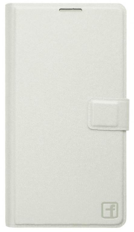 Чехол книжка Flower для Lenovo A850+ Белый
